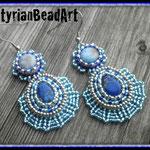 Bead Embroidery Ohrringe Eiskristall!