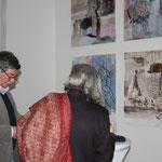 Besucher und Künstler