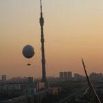 Ostankino-Turm am Abend