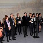 Fabien Labarthe entouré de l'équipe de Ciné Sans Frontières, cérémonie de clôture