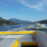Eine Fahrt mit den Ringo´s hinter dem Motorboot