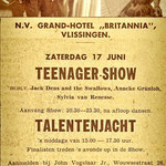 Jack Dens & The Swallows: Teenager-Show op 17 juni 1961 in Grand-Hotel Britannia te Vlissingen.