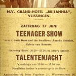 Jack Dens & The Swallows: Teenager-Show op 17 juni 1961 in Grand-Hotel Britannia te Vlissingen.