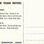 The Four Tielman Brothers promo postcard