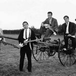 THE REAL ROLLERS - juli 1964 vlnr: Eddy Vermeulen - Frans Sahupala - Bart Carels - Puck de Bock