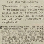 Jack Dens & The Swallows: Dagblad de Stem 27 mei 1961