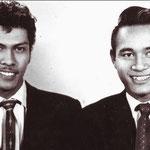 Andy Tielman en Edu Schalk 1957 (fotocollectie: Edu Schalk)