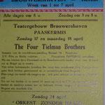 Optreden in Theatergebouw Brouwershaven te Herent, België (nabij Leuven) tijdens Paaskermis 1959