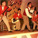 Foto gemaakt tijdens een van hun optredens in Paviljoen Plaswijck, Rotterdam-Hillegersberg (1959)