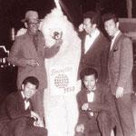 The Four Tielman Brothers met vader Herman Tielman - Expo 58 Brussel