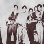 THE ROCKING YINGS 1961 vlnr: Ed sigarlaki - Don Sigarlaki - Guus Manuputi - Ed Wannee - Nico Sigarlaki - Raoul de Groen - Coen Couwenberg