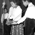 THE COOKES -  Dynamic Club in Amicitia, Den Haag 5 jan. 1963 - vlnr: George, Ann en Arthur