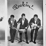 THE ROCKIN' TEENS - vlnr: Arie Mosies, David Hoff, Ferry Beckman Lapré, Hennie Breukers (RIP) en Rudy Koeasie Amoead