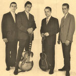 THE FOUR SWEETERS (1960) vlnr: Jos Lejeune (Den Haag), Jack de Nijs (Roosendaal), Johan Beyerman (Den Bosch) en Paul Pieterse (Amsterdam)