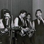 THE BLACK STRANGERS - Foresterhuis 1966 vlnr: Edu von Heuven von Staerling - Harry Brender à Brandis - Gerry Lans - Antoine van Oudheusden - Eddy Hagenstein - Corry Oornink