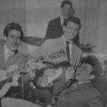 THE HONKY TONKS 1961 vlnr: Joop Ketting Olivier - George Brunnings - John de Lange - Frans van den Brand Horninge - Robby Merghart