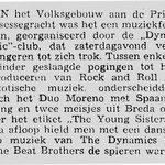 krantenknipsel uit de Haagsche Courant van 27-6-1960