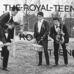 THE ROYAL TEENS vlnr: Jan Storm, Benno v.d. Weghe, Carly Schöne, Jacky Bos en Andrei Serban.