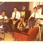 THE BLACK ACES (ca. 1963) vlnr: Daan Nolten, Ronny Donkers, Edu Wilten en Harry Noordhof.