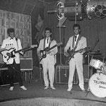 The Tielman Brothers - Ringstuben (Sputnik), Mannheim - Voorjaasr 1961 - Andy Tielman met zijn eerste Fender Jazzmaster