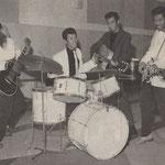 The Tielman Brothers in de Bovema studio, Heemstede (eind 1959)