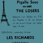 THE LOSERS - Pigalle Soos, Luxor Foyer, Bergen op zoom 14 mei 1966