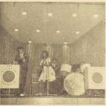 THE RAINBOW ROCKETS (Utrecht feb. 1962) - vlnr: Tonnt van de Bovenkamp, Dorien Deighton, Eddy Deighton en G. van de Weerd