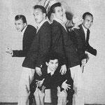 THE RHYTHM STARS 1959 Harry Bredow (boven) - Loekie Burgemeestre (onder) vlnr: Jaap Boogaard - Max ? - (Jan (John) Smit -  ?