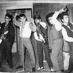 THE BLACK ROCKING CATS ca. 1960 2e van rechts Richard Andreas alias Clark Richard