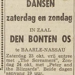 The Screamers - Dagblad de Stem 23-10-1965