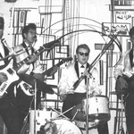 THE SQUADRONS ca. 1965 vlnr:  Charles Portiér - Guus van Westerloo - Harry Schierbeek - Nono Pieplenbosch