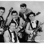 The Skyrockets met hun nieuwe zanger Willem Grift (begin 1964)