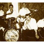 THE ROCKING CHEETAHS ca. 1960 - vlnr: Rudy Hermsen - Jannes Peeters - Jan Diekman - Ies Wolters - Joop Wolters - Ap Roelofs