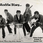 THE ROLLIN' STARS vlnr: Freddy Hooper, Paul Schüler, Wim Doornik, Henry Alting Siberg, Charles Lapré (collectie: Wim Doornik)