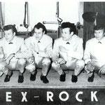 REX ROCKETS 5 vlnr: Bennie Latoel - Rinus van de Berg - Peter Wezepoel - Rex von Harras - Albert Priegelaar
