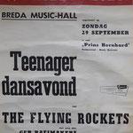 THE FLYING ROCKETS - Teenager dansavond op 29 september 1963 in Zaal Prins Bernhard