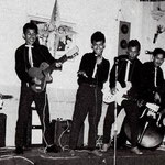 THE BLACK DIAMONDS 1959 vlnr: Dirk Siaila - Loeky van Gessel - Benny van Gessel - Jimmy Grünberg - W. de Wilde - Eric van Gessel