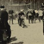 Fahrerlager in Hockenheim im Mai 1950