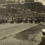 Start Motorradrennen auf altem Hockenheimkurs im Mai 1950