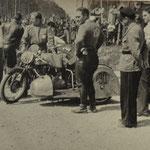 Seitenwagenmaschine NSU 600 ccm des Gespanns Böhm-Fuchs