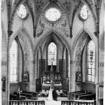 Hochzeit in Geinsheimer Kirche in alter Ausstattung (vor Renovierung)