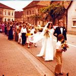 Hochzeitszug Schädler Hans und Mechthild. geb. Hoffmann