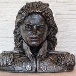 Jacko Silber, Büste,Original in Bronze, Euro 3.800,-, H/B 30x32cm, hier Steinguss, 17kg, FAN-Vorzugspreis, Euro 300,- anstatt Euro 480,-.