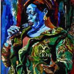 Diane Reeves unter Glas gerahmt,  90 x 70 cm