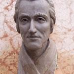 Euro 800,00  J. C. Friedrich v.Schiller. Das Portrait besteht aus gebranntem Ton und ist ebenso groß wie ein lebender Kopf. Es ist 2004 hergtestellt.Das Portrait ist aus der Erinnerung an verschiedene Gemälde hergestellt worden,welche Schiller darstellen.