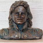Jacko Grünspan, Büste,Original in Bronze, Euro 3.800,-,H/B 30x32cm, hier Steinguss, 17kg, FAN-Vorzugspreis, Euro 300,- anstatt Euro 480,-.