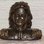 Jacko Gold.Büste,Original in Bronze, Euro 3.800,-, H/B 30x32cm, hier Steinguss, 17kg, FAN-Vorzugspreis, Euro 300,- anstatt Euro 480,-.