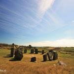 Ierland, Domberg Stonecircle met in de achtergrond de Keltische Zee