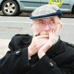 Straatmuzikant. Cork, Ierland.