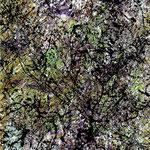 Phantomflug, 2013, Acryl auf Hartfaserplatte, 24 x 18 cm